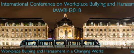 Mieux comprendre le harcèlement au travail dans un monde en mutation : colloque international à Bordeaux du 6 au 8 juin
